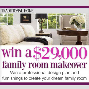 Traditional Home Family Room Sweepstakes
