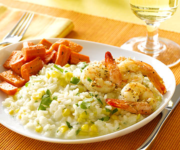 Day One: Corn and Shrimp Risotto