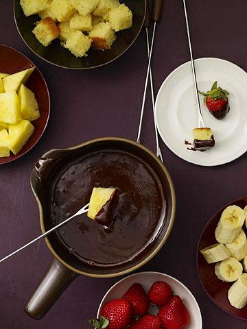 Raspberry-Chocolate Fondue