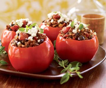 Provencal Stuffed Tomatoes