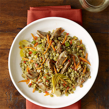 Lentil Salad with Sausage