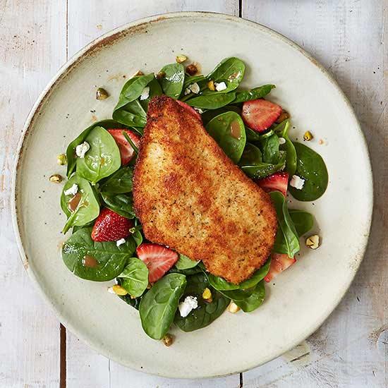 Paillard over Spinach Salad