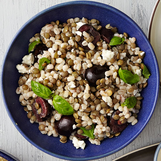 Lentil, Barley and Cherry Salad