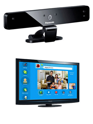 Panasonic Viera Series HD TV plus TV-compatible webcam or Samsung 3D LED 8000 Series and TV-compatible webcam