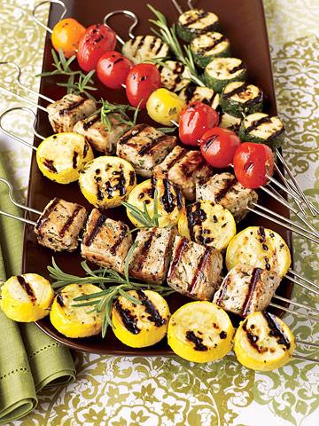Pork & Veggie Kabobs