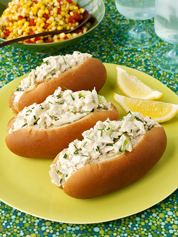 Crab Roll & Corn Salad