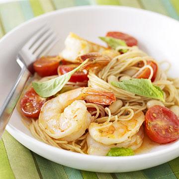 Shrimp with Bean-Tomato Ragu