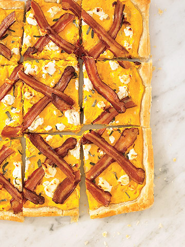 Butternut Squash and Goat Cheese Tart