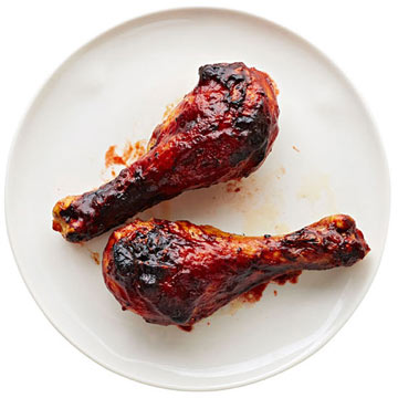 Drumsticks with Cherry Balsamic BBQ Sauce