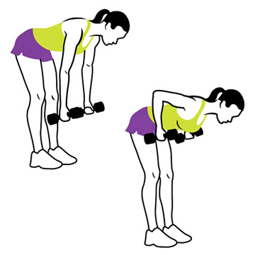 4. Bent-Over Rows