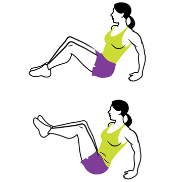 5. Seated Crunches