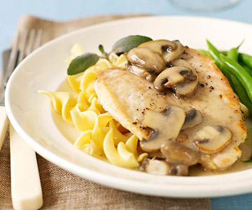 Chicken and Sage-Mushroom Gravy
