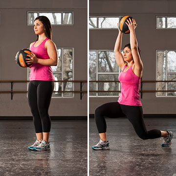 Lunge with Overhead Press