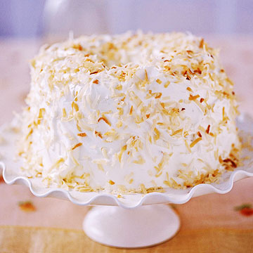 Coconut-Pecan Angel Food Cake