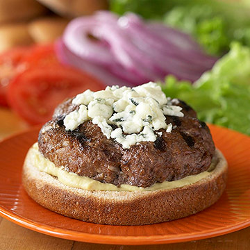 Cheese-Topped Burgers