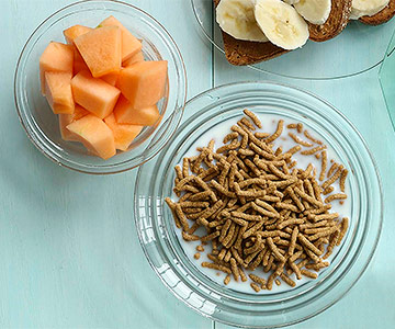 Cereal and Cantaloupe
