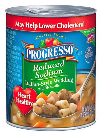 Progresso Reduced-Sodium Italian-Style Wedding Soup with Meatballs