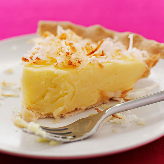 Old School Coconut Custard Pie
