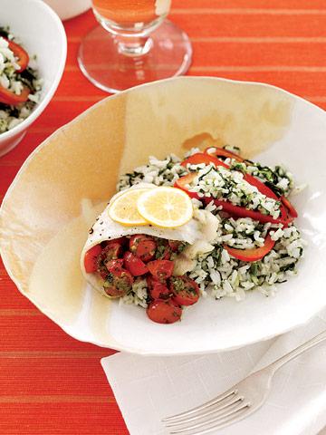 Tomato-Stuffed Flounder