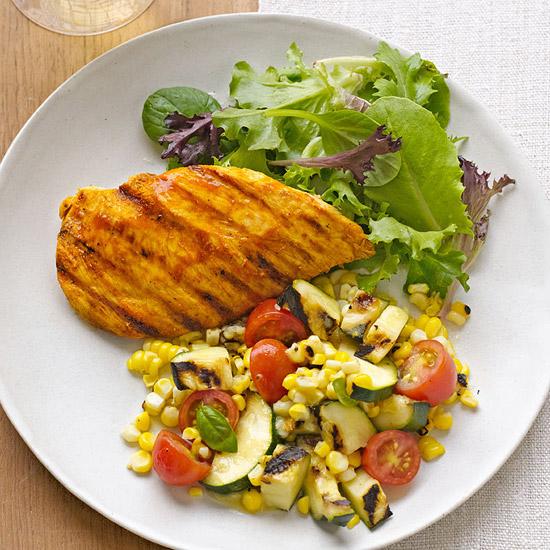 Grilled Buffalo Chicken & Veggie Salad