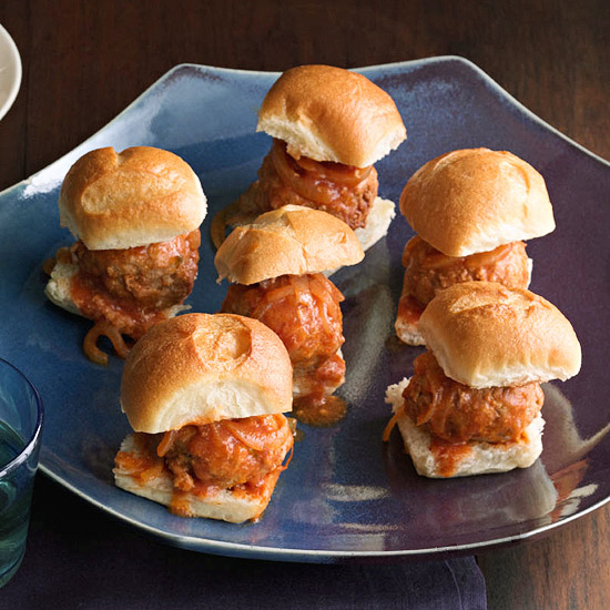 Sweet & Sour Meatball Sliders