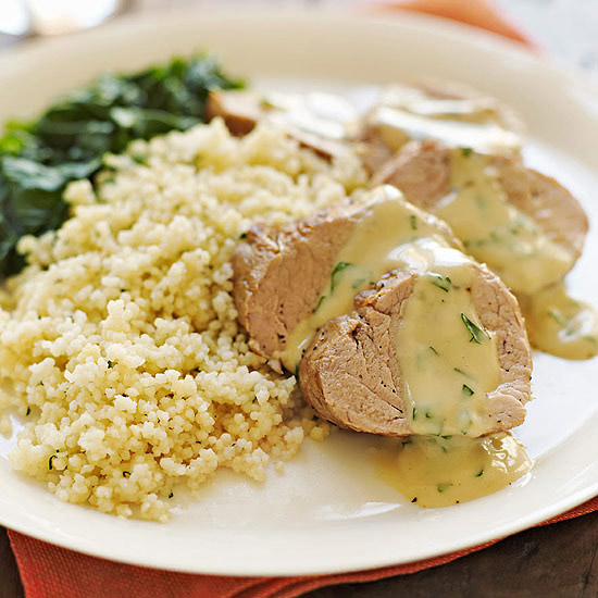 Pork Tenderloin with Creamy Apple Cider Sauce