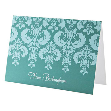Dream Damask Personalized Note Cards