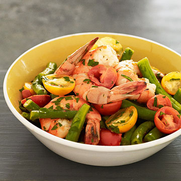 Greek Shrimp and Green Beans