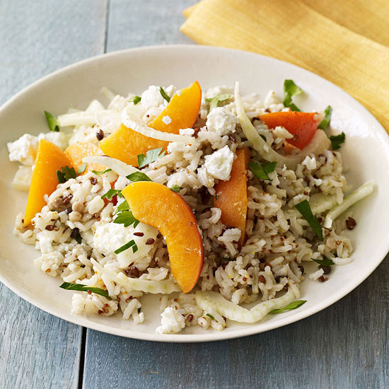 Wild Rice Salad with Apricots, Fennel and Feta