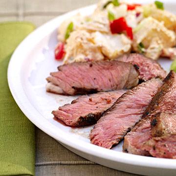 Texas Ribeye Steaks & Potato Salad