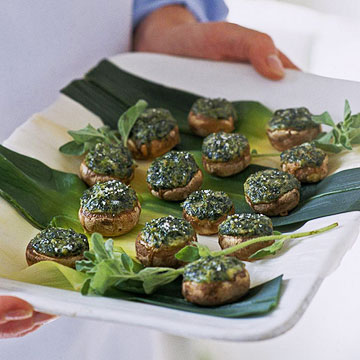Spinach-Souffle-Stuffed Mushrooms