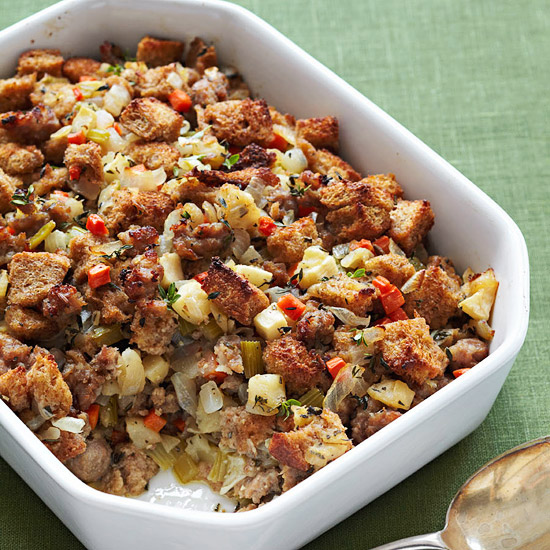 Apple-Sausage Stuffing