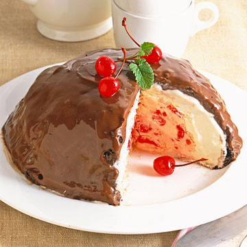 Cherry-Vanilla Ice Cream Bombe