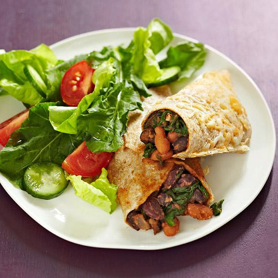 Spinach & Three-Bean Enchiladas