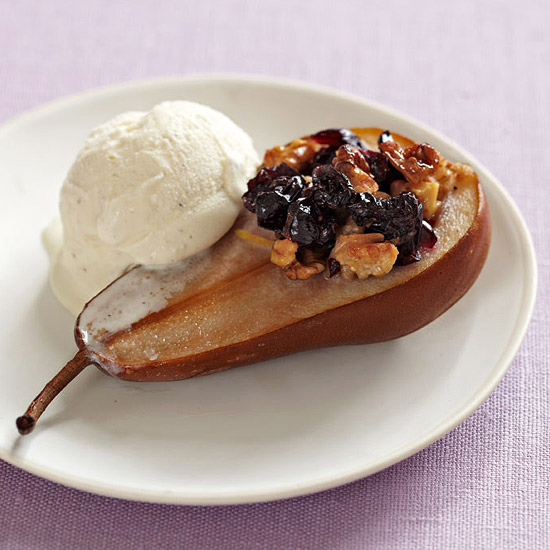 Baked Pears with Craisins & Walnuts