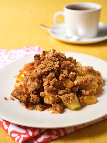 Apple & Cheddar Crumble