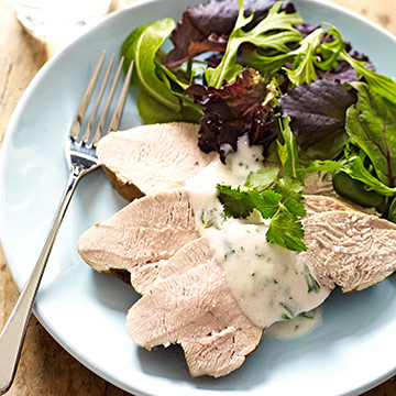 Turkey Breast with Yogurt-Cilantro Sauce