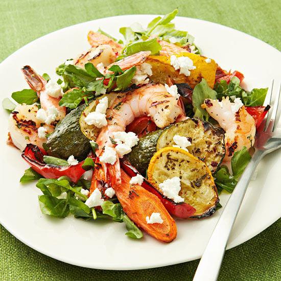 Roasted Vegetable & Shrimp Salad
