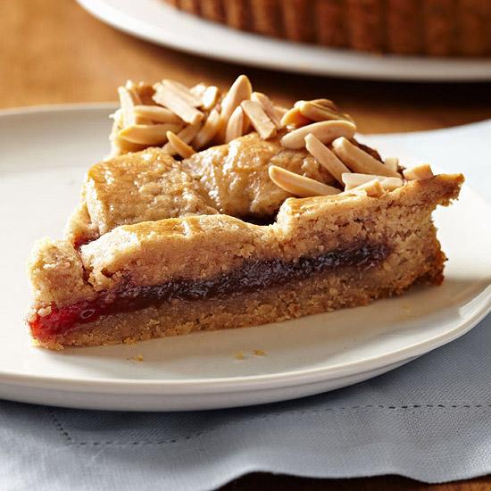 Strawberry Linzer Cookie Tart