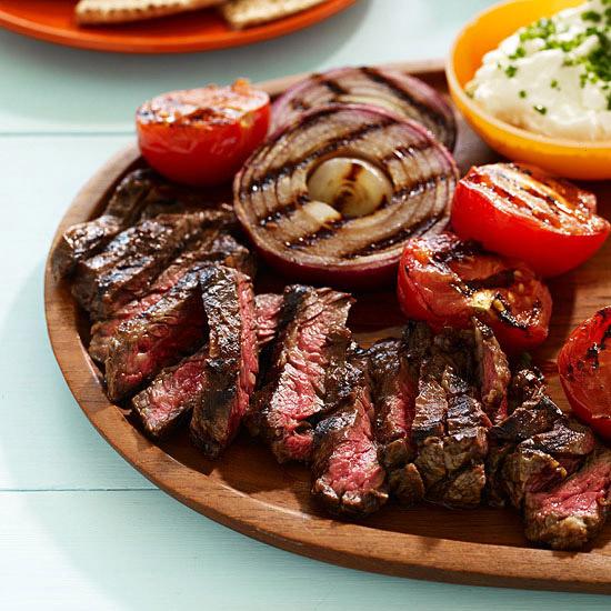 Skirt Steak Pitas