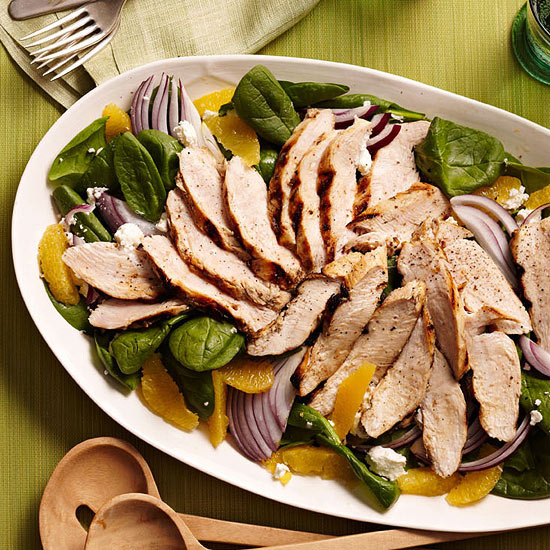 Spinach, Orange and Chicken Salad