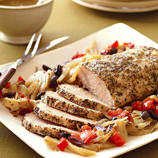 Slow-Cooker Mediterranean Pork Roast