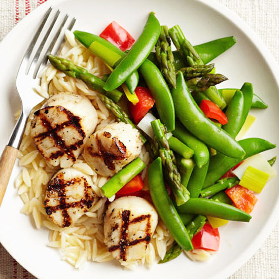Grilled Scallops and Spring Vegetables