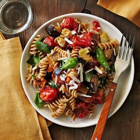 Tomato and Eggplant Fusilli