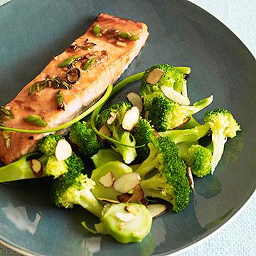 Teriyaki Salmon with Glazed Broccoli Salad
