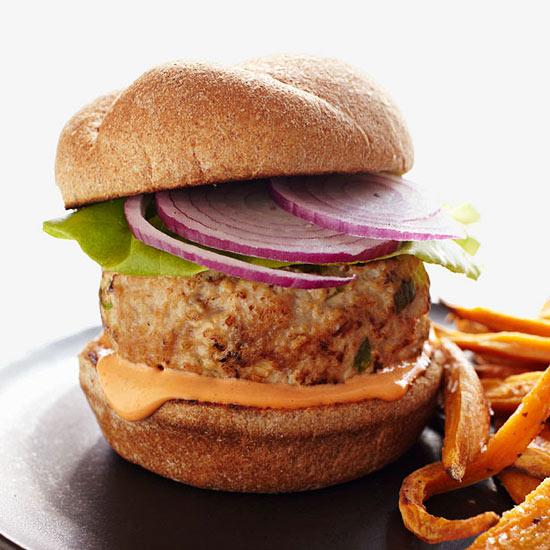 Five-Spice Turkey Burgers