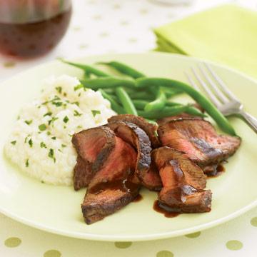 Beef with Cauliflower Puree