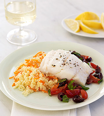 Oven-Roasted Cod with Tomato Relish