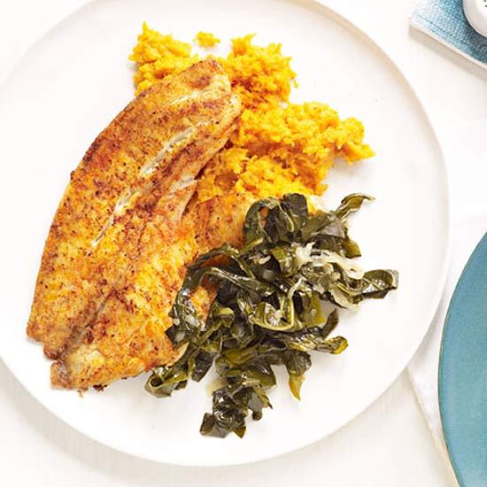 Creole Tilapia & Mashed Sweet Potatoes