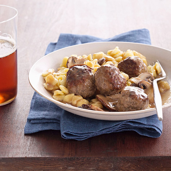 Austrian Meatballs and Spaetzle
